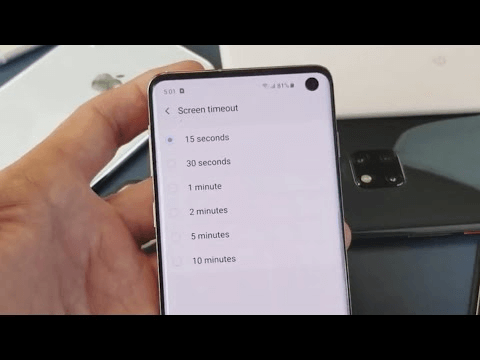 Screen Timeout on Android