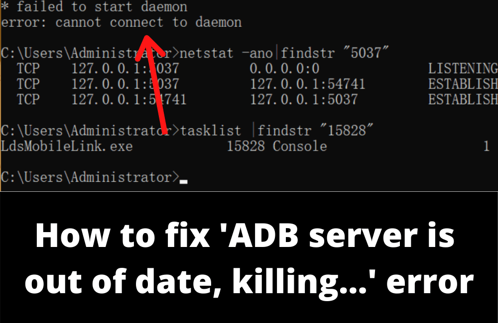 How to fix ADB server is out of date error
