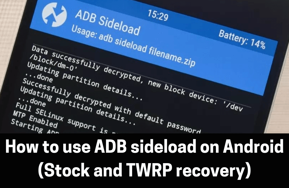 How to use ADB sideload on Android