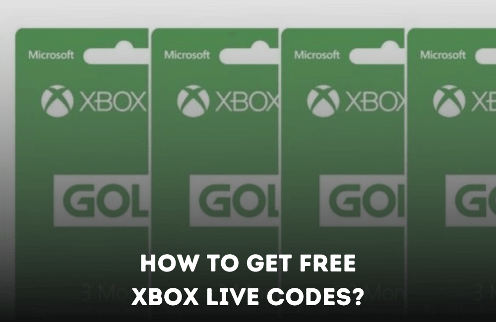 How to get free xbox live codes